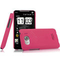 IMAK Ultrathin Matte Color Covers Hard Cases for HTC T9199 - Rose (High transparent screen protector)