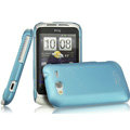 IMAK Ultrathin Matte Color Covers Hard Cases for HTC Wildfire S A510c G13 - Blue (High transparent screen protector)