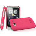 IMAK Ultrathin Matte Color Covers Hard Cases for HTC Wildfire S A510c G13 - Rose (High transparent screen protector)