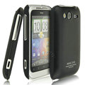IMAK Ultrathin Matte Color Covers Hard Cases for HTC Wildfire S A510e G13 - Black (High transparent screen protector)
