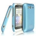 IMAK Ultrathin Matte Color Covers Hard Cases for HTC Wildfire S A510e G13 - Blue (High transparent screen protector)