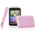 IMAK Ultrathin Matte Color Covers Hard Cases for HTC Wildfire S A510e G13 - Pink (High transparent screen protector)