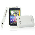 IMAK Ultrathin Matte Color Covers Hard Cases for HTC Wildfire S A510e G13 - White (High transparent screen protector)