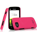 IMAK Ultrathin Matte Color Covers Hard Cases for Hisense E910 - Rose (High transparent screen protector)