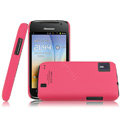 IMAK Ultrathin Matte Color Covers Hard Cases for Hisense HS-U8 - Rose (High transparent screen protector)