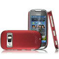 IMAK Ultrathin Matte Color Covers Hard Cases for Nokia C7 - Red (High transparent screen protector)