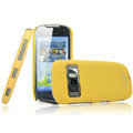 IMAK Ultrathin Matte Color Covers Hard Cases for Nokia C7 - Yellow (High transparent screen protector)