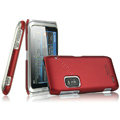 IMAK Ultrathin Matte Color Covers Hard Cases for Nokia E7 - Red (High transparent screen protector)