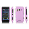 IMAK Ultrathin Matte Color Covers Hard Cases for Nokia N8 - Pink (High transparent screen protector)