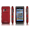 IMAK Ultrathin Matte Color Covers Hard Cases for Nokia N8 - Red (High transparent screen protector)