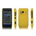 IMAK Ultrathin Matte Color Covers Hard Cases for Nokia N8 - Yellow (High transparent screen protector)