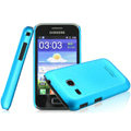 IMAK Ultrathin Matte Color Covers Hard Cases for Samsung I659 GALAXY Ace Plus - Blue (High transparent screen protector)