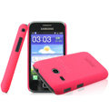 IMAK Ultrathin Matte Color Covers Hard Cases for Samsung I659 GALAXY Ace Plus - Rose (High transparent screen protector)