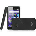 IMAK Ultrathin Matte Color Covers Hard Cases for TCL C995 - Black (High transparent screen protector)