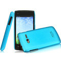 IMAK Ultrathin Matte Color Covers Hard Cases for TCL S600 - Blue (High transparent screen protector)