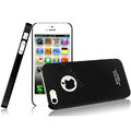 IMAK Ultrathin Matte Color Covers Hard Cases for iPhone 5 - Black (High transparent screen protector)
