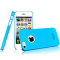 IMAK Ultrathin Matte Color Covers Hard Cases for iPhone 5 - Blue (High transparent screen protector)