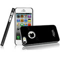 Imak ice cream hard cases covers for iPhone 5 - Black (High transparent screen protector)