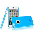 Imak ice cream hard cases covers for iPhone 5 - Blue (High transparent screen protector)