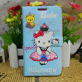 Hello kitty Covers Side Flip leather Cases for Samsung N7100 GALAXY Note2 - Blue