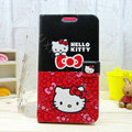 Hello kitty Covers Side Flip leather Cases for Samsung N7100 GALAXY Note2 - Red Black