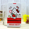 Hello kitty Covers Side Flip leather Cases for Samsung N7100 GALAXY Note2 - Red