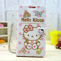 Hello kitty Covers Side Flip leather Cases for Samsung N7100 GALAXY Note2 - White