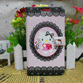 Hello kitty Lace Covers Side Flip leather Cases for Samsung N7100 GALAXY Note2 - Pink