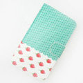 strawberry Side Flip leather Cases Covers for Samsung N7100 GALAXY Note2 - Green