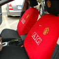 Manchester United Universal Auto Car Seat Cover Set 10pcs - Red Black
