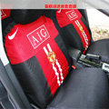 Manchester United Universal Auto Car Seat Cover Set 16pcs - Red Black