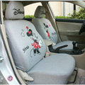 Mickey Minnie Mouse universal Auto Car Seat Covers set - Grey