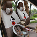 Mickey Mouse Universal Auto Car Seat Cover Set Cartoon 18pcs - Grey