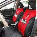 Real Madrid Universal Auto Car Seat Cover Set 10pcs - Red Black