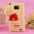 3D Hello kitty Silicone Cases Skin Covers for Samsung i9100 i9108 i9188 Galasy S2 - Beige