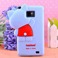 3D Hello kitty Silicone Cases Skin Covers for Samsung i9100 i9108 i9188 Galasy S2 - Blue