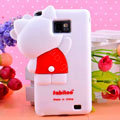 3D Hello kitty Silicone Cases Skin Covers for Samsung i9100 i9108 i9188 Galasy S2 - White