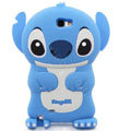 3D Stitch Silicone Cases Skin Covers for Samsung N7100 GALAXY Note2 - Blue