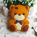 Cartoon 3D Bear Panda Silicone Cases Skin Covers for iPhone 4G/4S - Brown