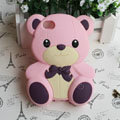 Cartoon 3D Bear Panda Silicone Cases Skin Covers for iPhone 4G/4S - Pink