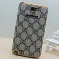 GUCCI cover leather cases Holster Skin for Samsung N7100 GALAXY Note2 - Grey