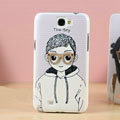 Glasses boy Hard Cases Covers Skin for Samsung N7100 GALAXY Note2 - Purple