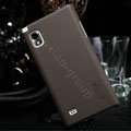 Nillkin Super Matte Hard Cases Skin Covers for LG F160L Optimus LTE II 2 - Brown (High transparent screen protector)