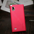 Nillkin Super Matte Hard Cases Skin Covers for LG F160L Optimus LTE II 2 - Red (High transparent screen protector)