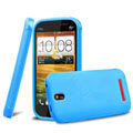 TPU Soft Cases Colorful Matte Covers Skin for HTC T528t One ST - Blue