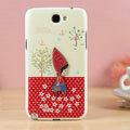 The girl Hard Cases Covers Skin for Samsung N7100 GALAXY Note2 - Red