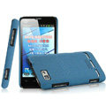 IMAK Cowboy Shell Quicksand Hard Cases Covers for Motorola MT680 - Blue (High transparent screen protector)