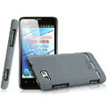 IMAK Cowboy Shell Quicksand Hard Cases Covers for Motorola MT680 - Gray (High transparent screen protector)