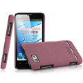 IMAK Cowboy Shell Quicksand Hard Cases Covers for Motorola MT680 - Purple (High transparent screen protector)