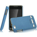 IMAK Cowboy Shell Quicksand Hard Cases Covers for Motorola XT390 - Blue (High transparent screen protector)